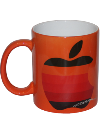 Кружка хамелеон оранжевая