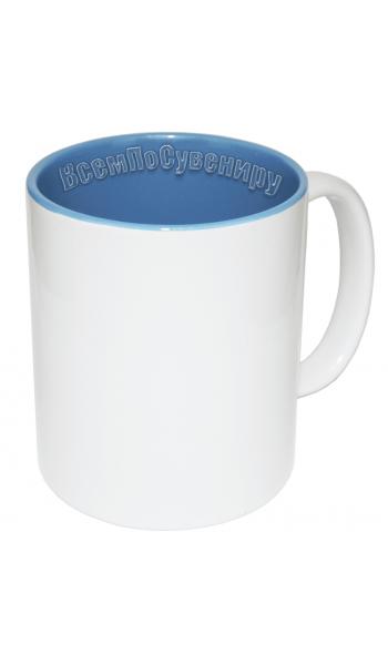 Кружка внутри голубая с нанесением