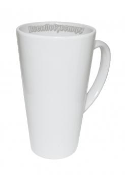 Кружка латте белая высокая