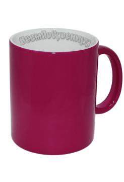 Кружка хамелеон розовая с нанесением