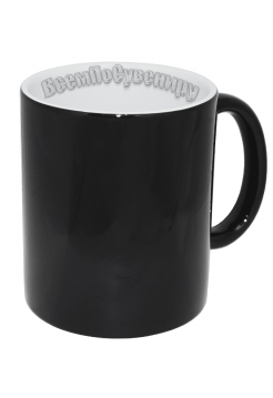 Кружка хамелеон черная с нанесением