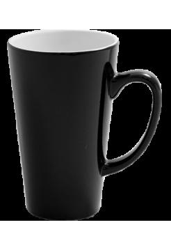 Кружка хамелеон латте черная высокая