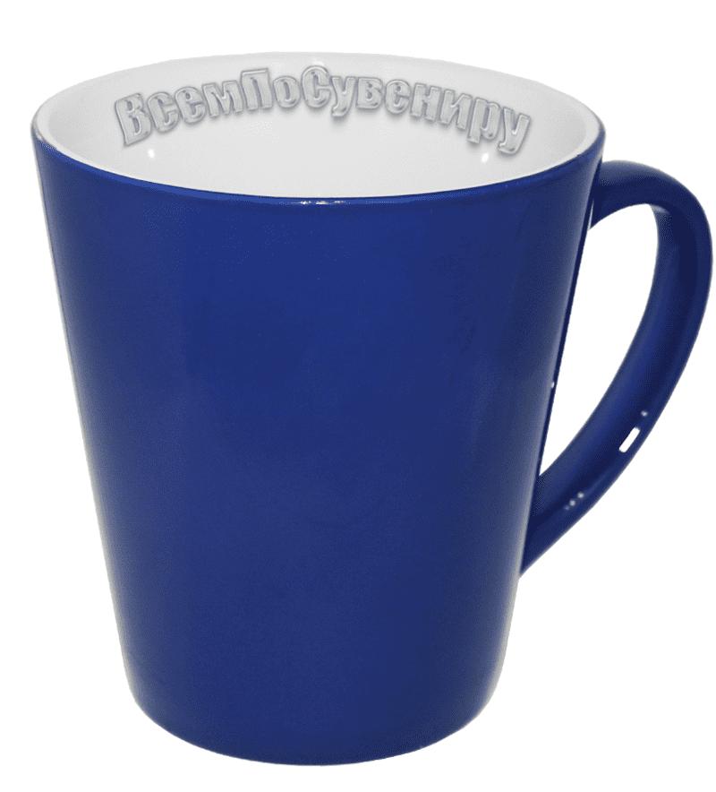 Кружка хамелеон латте синяя
