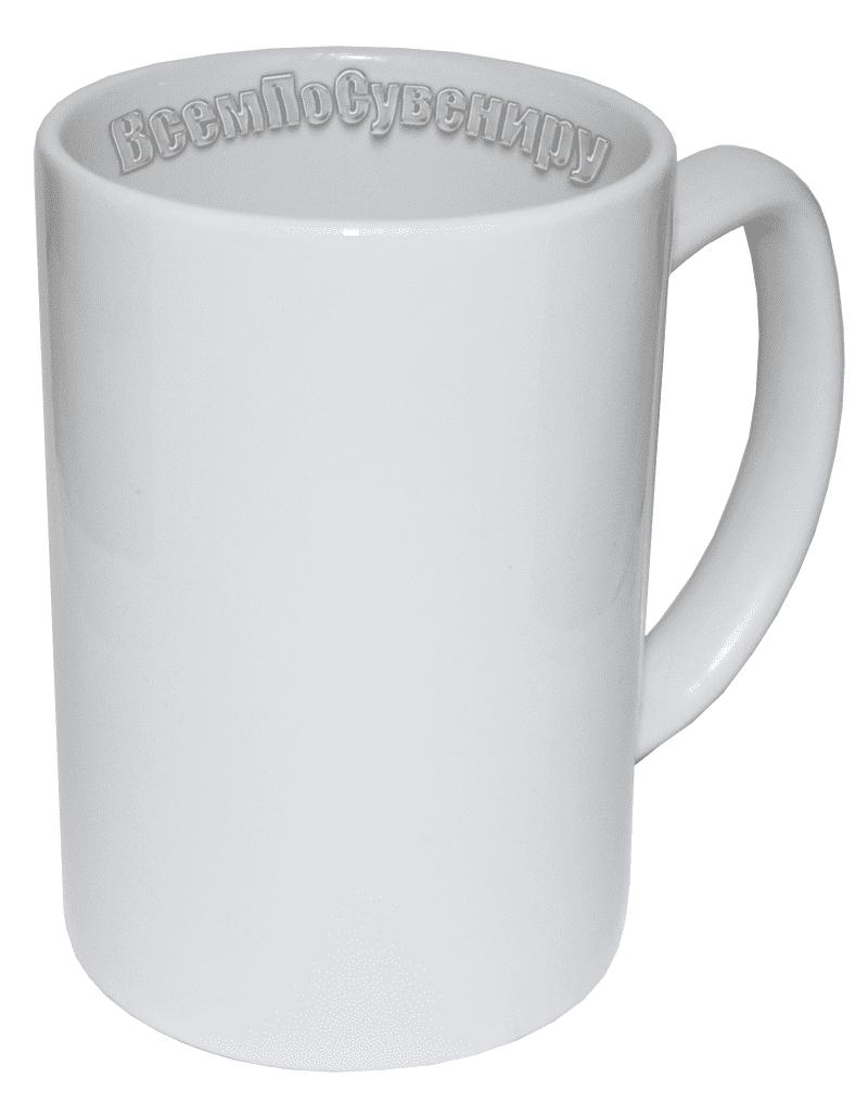Кружка белая высокая (350 мл)