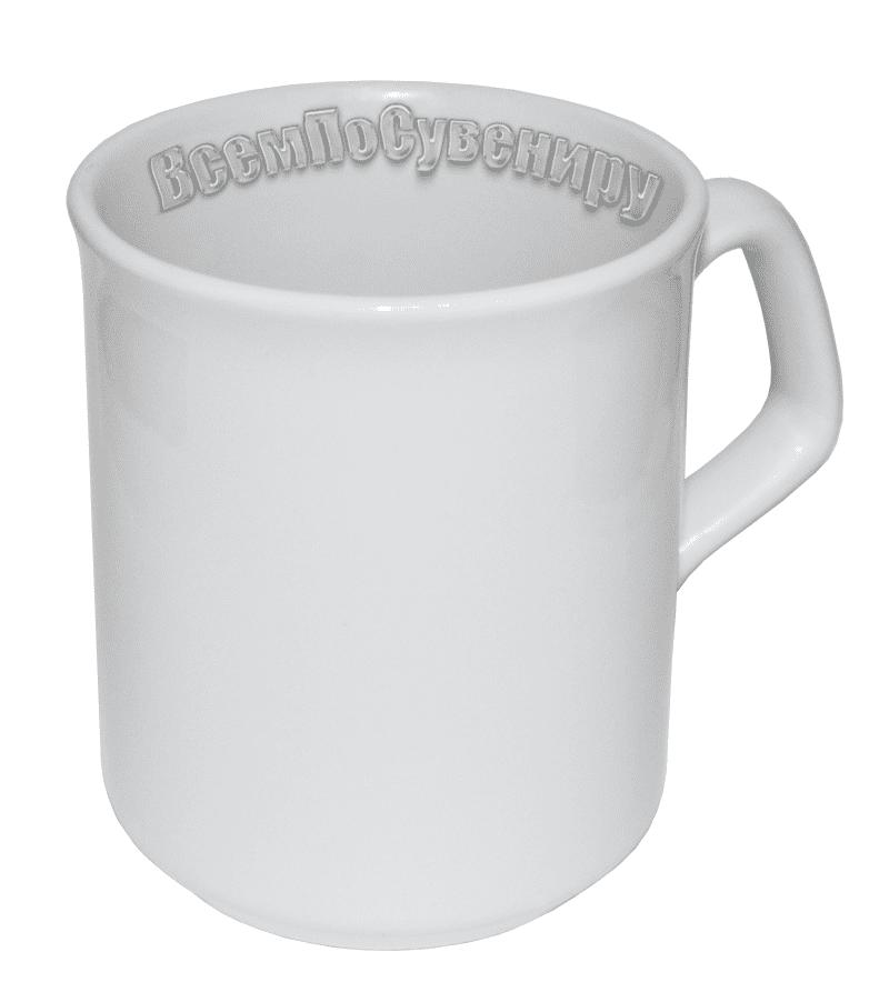 Кружка белая с фигурной ручкой (250 мл)