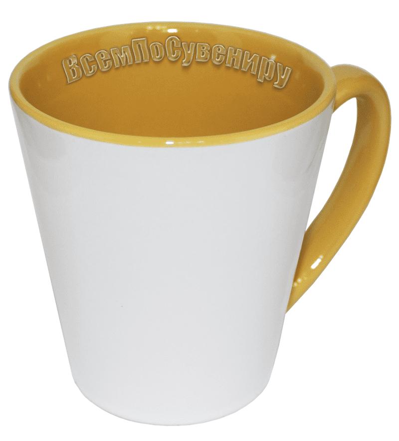 Кружка латте желтая