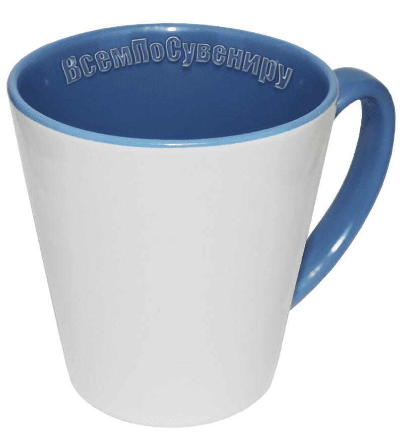 Кружка латте голубая
