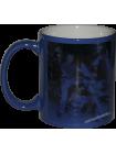 Кружка хамелеон синяя с нанесением