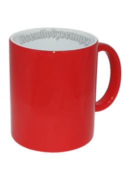 Кружка хамелеон красная с нанесением