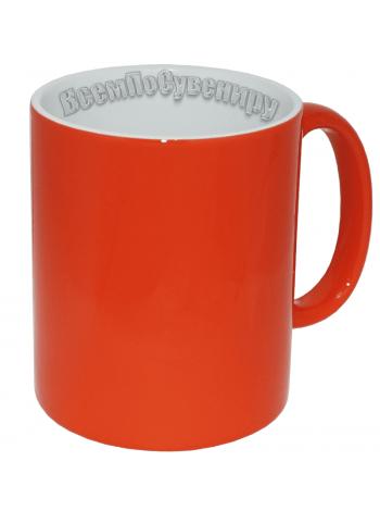 Кружка хамелеон оранжевая с нанесением