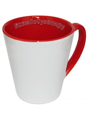 Кружка латте красная с нанесением