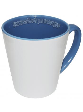 Кружка латте голубая с нанесением