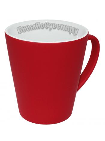 Кружка хамелеон латте красная с нанесением